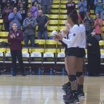A look at @MissouriStateVB starters. @Lynsey_wright9 @emily_butters96 @SimoneCasa9 #MSUBears #MVCVB https://t.co/7kQU1jvaER