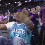Cam Newton hits the dab sitting court side at the #Hornets game. https://t.co/8O0DwrG42x