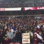 #Redskins fans are loud and proud. Thanks for supporting us at home today! #HTTR #WASvsNYG https://t.co/oxoZFCkRcp