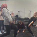 The bookworms teaching May how to bust a move! Only 10 days until #TongueTied!! https://t.co/KQgePMz72m