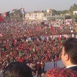 Chairman #PPP @BBhuttoZardari waving to the crowd at #Malir Jalsa. #PPPFoundationDay https://t.co/bxjQqkDbEa