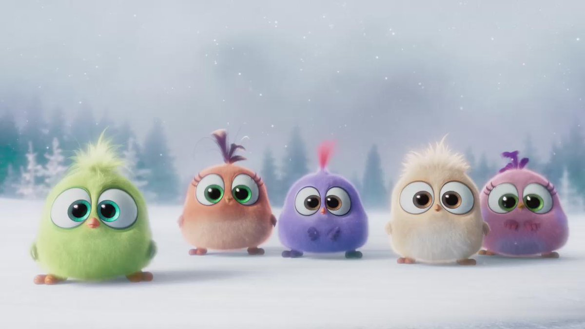 Meet the #Hatchlings from the #AngryBirdsMovie - season's greetings everyone! #falalalala