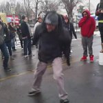 Zulu Nation getting down at #4thPrecinctShutDown, relaxing the tension as fears of eviction loom. #Justice4Jamar https://t.co/lUryhWmAsZ