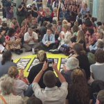 Climate protest happening right now in @ParliamentHouse @abcnews @ABCNews24 https://t.co/HPMfyDqQ0h