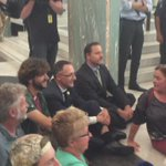 Greens join the protest demanding climate change action Parliament House Canberra #auspol #peoplespaliament https://t.co/NGiqrayuTI