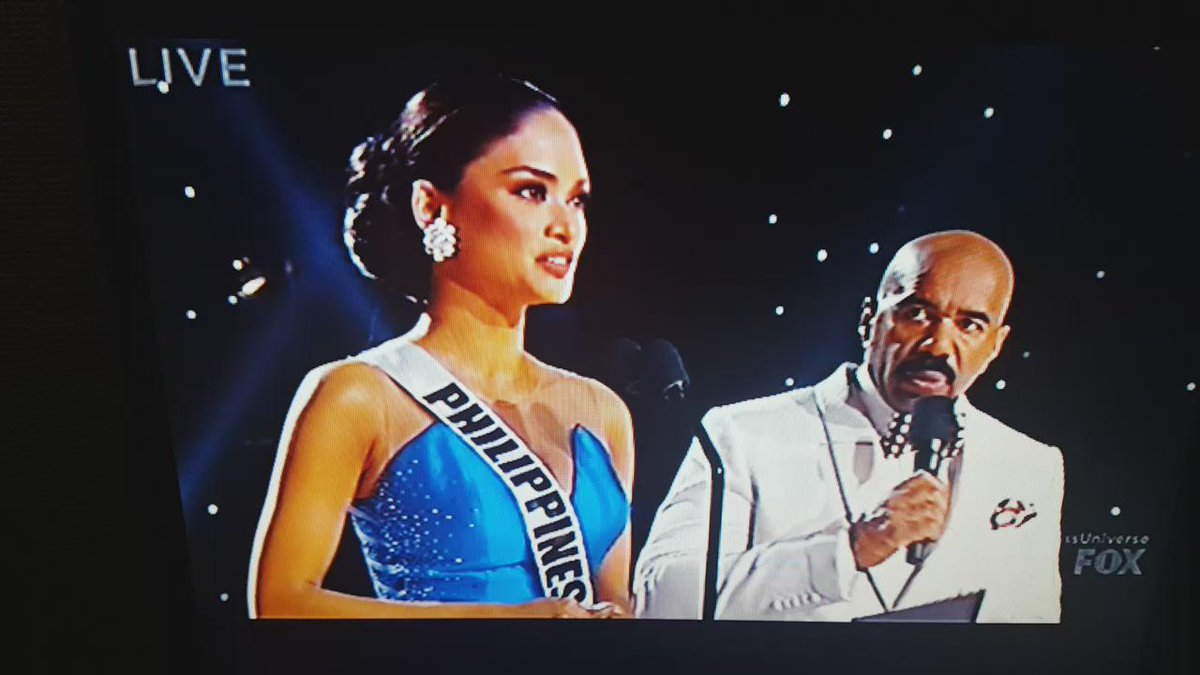 Ok so listen right, Miss Phillippines is my pick for the title. That was a great answer. #MissUniverse2015 https://t.co/TWnrym62Xz