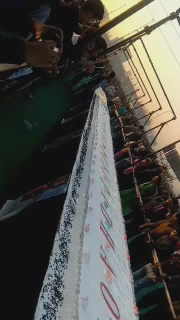 Happy birthday Salman Khan 4500 kg cake cut by Surat.it\s a world record and we love you bhai jaan.