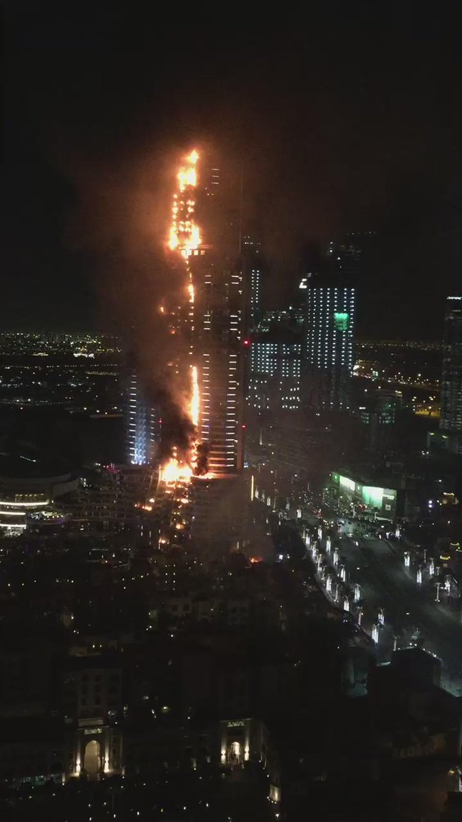 """@pzf: BREAKING NEWS: Fire at The Address hotel, Downtown Dubai. https://t.co/Kf3EG9O2q8"""