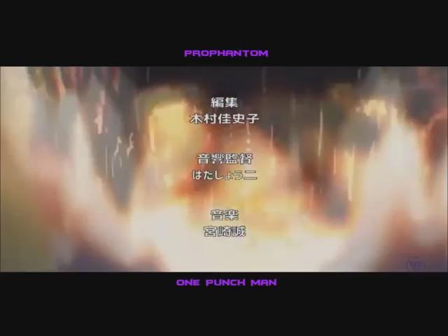 ワンパンマン(マッドハウス)「THE HERO !! 〜怒れる拳に火をつけろ〜」(作詞、作曲: 影山ヒロノブ/歌:JAM