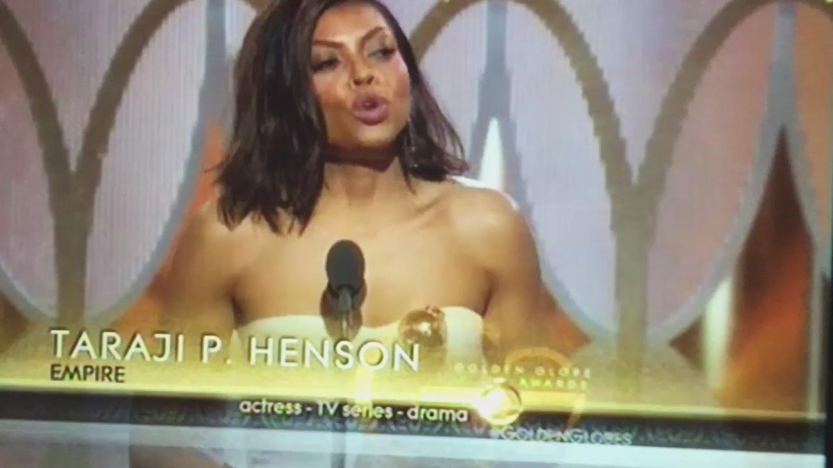 Taraji P. Henson's Acceptance Speech (Part 1) #GoldenGlobes https://t.co/hNE7L8UGsc