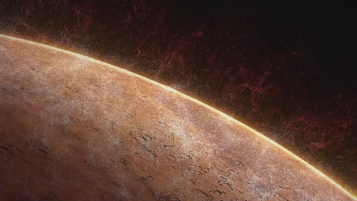 #MAVEN data indicate the sun strips gas from #Mars at rate of 100 grams (~1/4 lb) per sec. | https://t.co/ikxwCaxz2g https://t.co/lAhEqatZsj