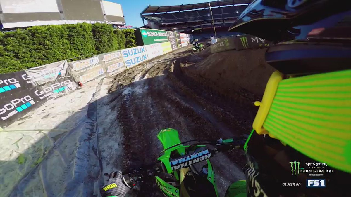 "Ride onboard with ""The King of Supercross"" @JeremyMcGrath as he rips the track in Anaheim. @GoPro @MonsterEnergy https://t.co/QIbRl4WJ9W"