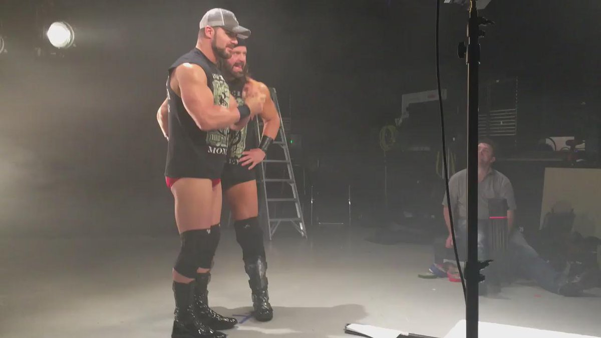 .@REALBobbyRoode & @JamesStormBrand channel their inner Brick Tambland for our @IMPACTWRESTLING UK promo #LOUDNOISES https://t.co/gOegViJo7O