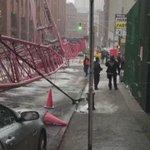Big ass crane fell in Manhattan this morning .. Shieeet https://t.co/m97oIExs5X