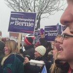 .@BernieSanders supporters chanting in Manchester as the senator leaves. https://t.co/Tq9ln1u5d7