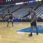 Tim getting some more practice time in before #Spurs #Mavs https://t.co/8oqmyWtpM6