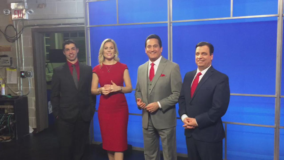 Shannon Hegy (@ShannonHegy): WPRI crew all in red! #nationalwearredday #nationalweatherpersonsday  @mmontecalvotv @tony_tpetrarca @MarkDondero https://t.co/1fb2e5kqtU