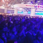Massive crowd at #MarutiSuzukiTransformotion pavilion is loving the Futuresonic! #ExperienceTransformotion https://t.co/Tv43pq6gAl