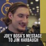 Joey Bosa has a simple message for Jim Harbaugh. LOL! #GoBucks https://t.co/YdBwmoBmTE