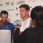 #ZonaMixta de los campeones en dobles #GuillermoDurán y @pablocarreno91 #ATPudla #TenisLatitudCero  Video: @domefq https://t.co/9de3j82kRy