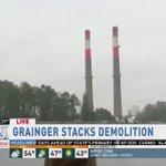 The Grainger Steam Plant smokestacks coming down https://t.co/k4SASPjdbH