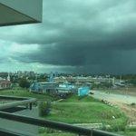 Tormenta #Cordoba capital vista desde 5° piso @Serrano151 @SoloBusesCba @granizoCordoba @dariogurvich @TDelLitoral https://t.co/VKJDE3U35W