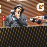 Panthers Cam Newton barely answered questions and here he exits https://t.co/eNMDpv2sQH