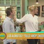 Marco de @losalonsitos_ y @ZampiniCarinaOk trajeron un pedacito de #DulceAmor a #MorfiTelefe con una escena tremenda https://t.co/5lllLw5EB4