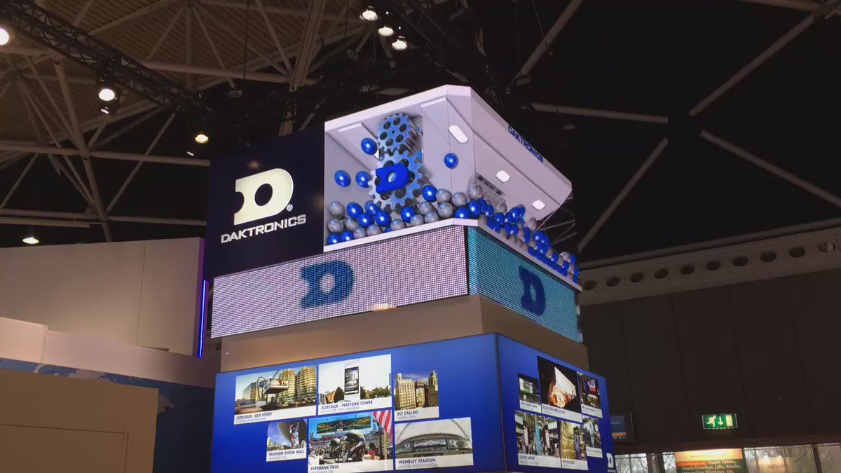Impressed by @Daktronics forced perspective technology- creating the illusion of #3D on an #LED screen #ISE2016 https://t.co/wPnRLL2hBX