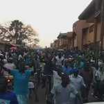 That is how Lira looked like when the procession to Lira Mayors Garden was going on. #WesigeBesigye #UGDebate16 https://t.co/fxFC69KwkS