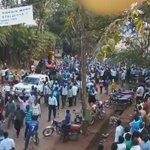 There you are from Lira Procession of Dr. @kizzabesigye1 to Mayors Garden. #WesigeBesigye as #UgandaDecides https://t.co/NPoZ8A1tyX