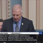 Ma question au PM Couillard: est-ce lui qui a décidé en 2014 que la prostitution juvénile nétait plus une priorité? https://t.co/ck7YDpEqBr