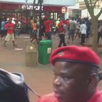 #SONA2016 The moment SAPS threw stun grenades into EFF supporters in St. Georges Mall vid: @carlo_petersen https://t.co/mrpXOArAbZ