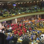 EFF mps coming into the National Assembly ahead of President Zumas State of the Nation Address @eNCA #SONA2016 https://t.co/MemAWMaDXj
