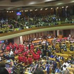 "EFF mps singing ""our land, our land"" in National Assembly Chamber @eNCA #SONA2016 https://t.co/2g8ohP9hGJ"