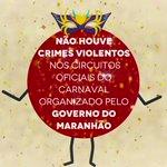 Não houve crimes violentos no #CarnavalDeTodos! O clima foi de paz nos 4 circuitos oficiais ???? ???? https://t.co/oG7wUDy75V