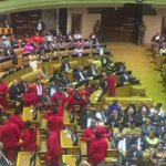 EFF leaving the chamber chanting #ZuptaMustFall https://t.co/pCazUwph62