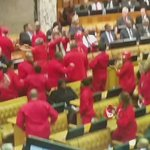 #sona2016 the entire EFF caucus leaving the chamber. SG https://t.co/zdNVWNDNd3