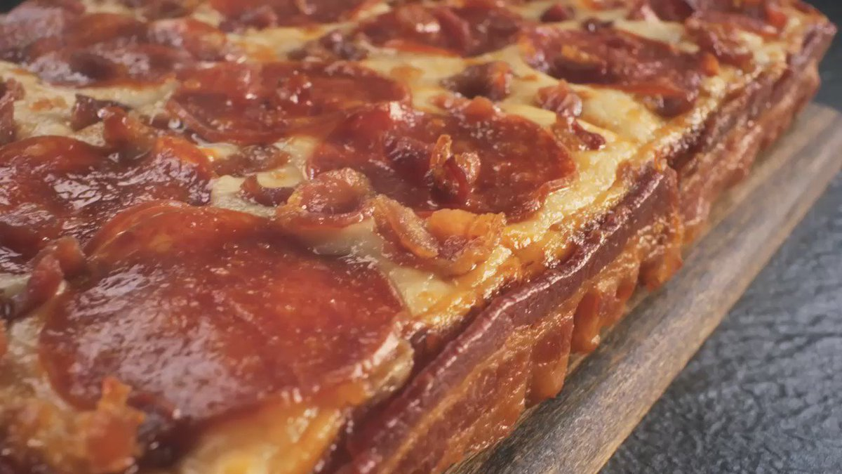 Get yourself some tasty #Bacon Wrapped Crust DEEP!DEEP! Dish Pizza ASAP...before @ChetWallaby takes it away again