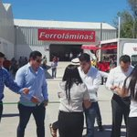 """Cortamos el listón inaugural de """"Ferroláminas Richaud"""" en #Calkiní https://t.co/hKBVXkzVnO"""