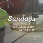 Sunday is going to be a great day at North Metro. Join us for Life Groups at 9:30am and Worship at 11:00am. https://t.co/Z74Cstvb8d