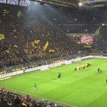 Die #BVB-Spieler nach dem 1:0-Sieg gegen @Hannover96 vor der #Südtribüne. #BVBH96 https://t.co/j6h9bBUmtr