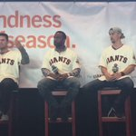 Catch @BusterPosey, @thisisdspan and @mm_duffy now on the @DignityHealth Q&A stage #SFGFest | #SFGiants https://t.co/dSXK87R9iC