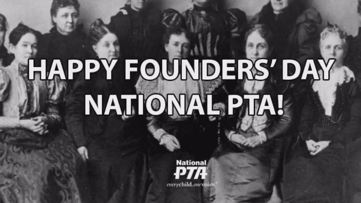 For more than 100 years, PTA has worked toward bettering the lives of every child. Happy Founders' Day!! #TYFTSW16 https://t.co/GOLMJBbvZW