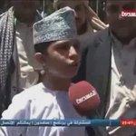 من الأطفال اليمنيين الجرحى اللي عالجوهم ف عمان حلوة لهجتهم شكرا بابا قابوس اشوف الف تغريدة محب بابا قابوس😢 #شناص https://t.co/lKEEAtsHnE