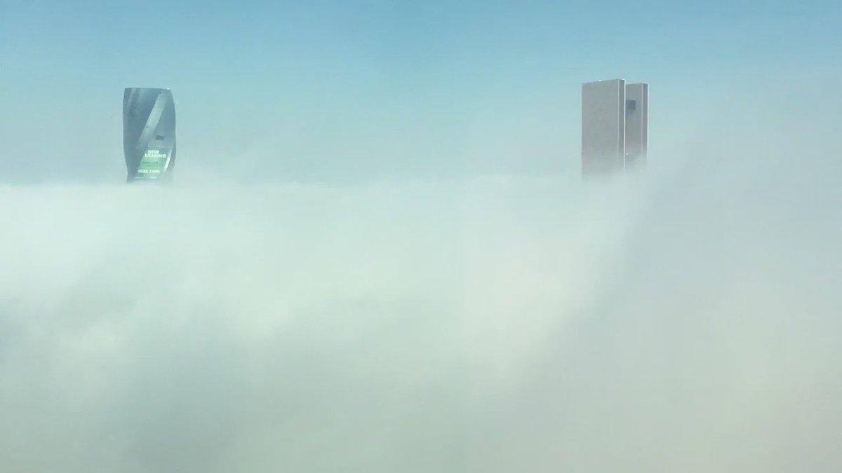 أجواء البحرين اليوم ☁️☁️  Fog clouds passing through @FSBahrain earlier today ☁️☁️ #Bahrain #BahrainWeather https://t.co/Dw4Gl87R6G