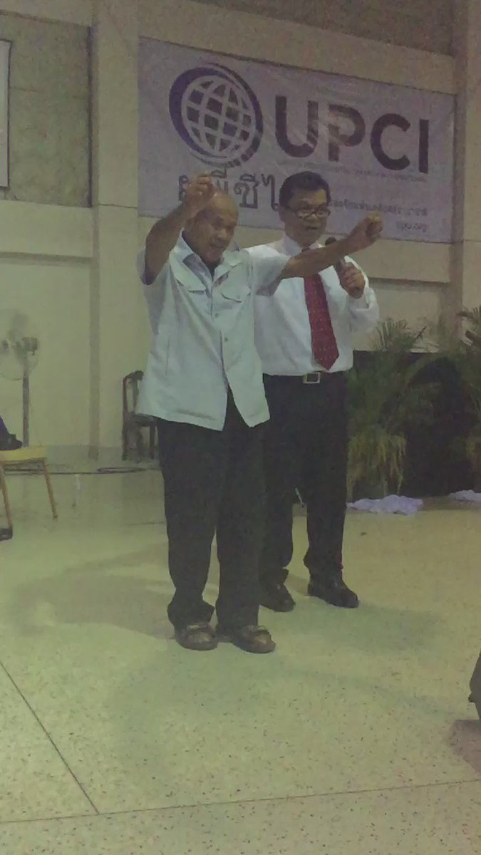 Paralyzed man instantly and totally healed tonight at Thailand General Conference. https://t.co/zat2UP0aGm