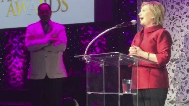 .@hillaryClinton stops by the #StellarAwards radio showcase https://t.co/LarpUOM4zm