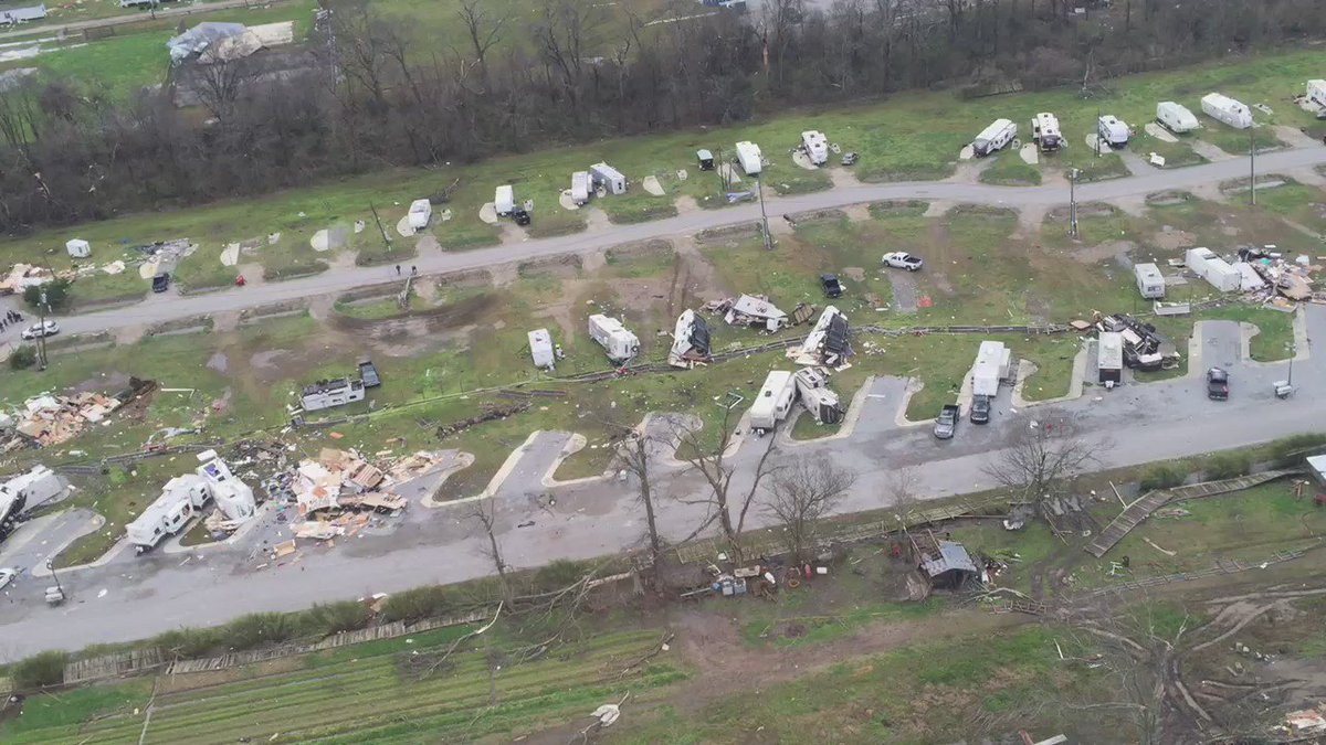 Aerial video of the damage at the St. James RV park. #lawx https://t.co/OkRpGVXsSV