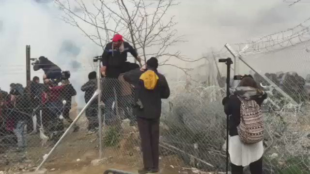RT @MSF_Sea: This is a transit camp for #refugees and #migrants full of tear gas. This is #Europe in 2016. https://t.co/2XLrDK1lCl